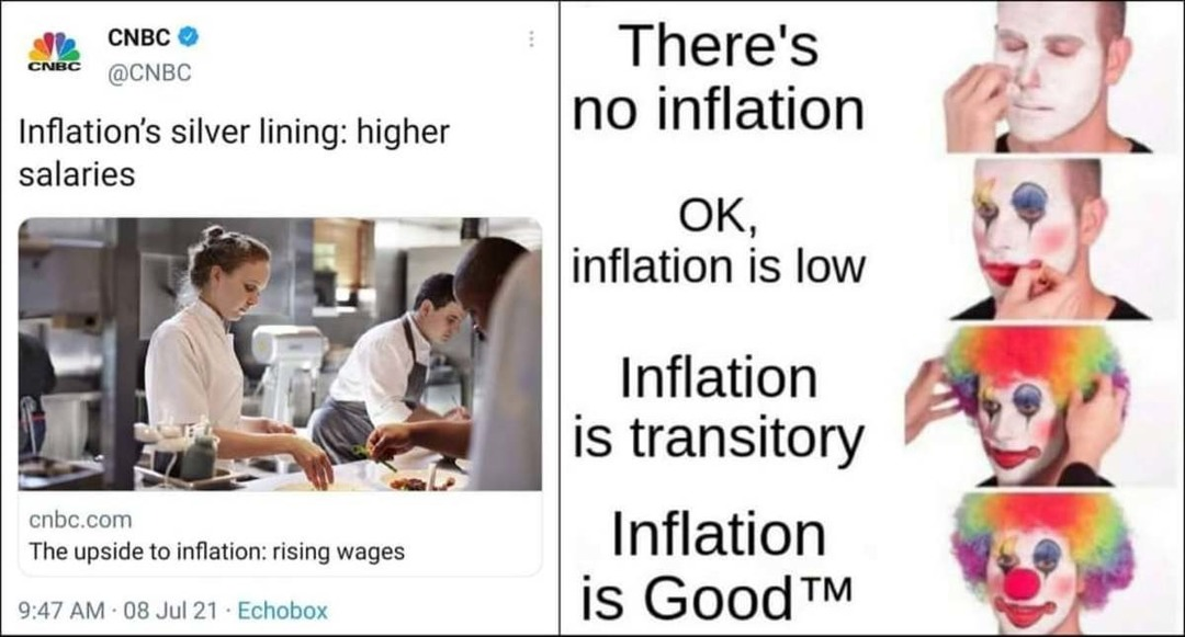 Inflation is good - meme