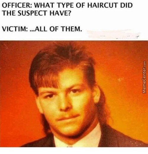 All of them haircuts - meme