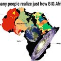 Not many people realize just how big Africa is