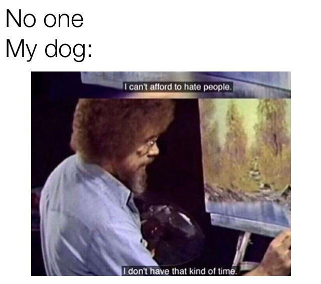 Such good animals. Bob Ross is an inspiration. - meme