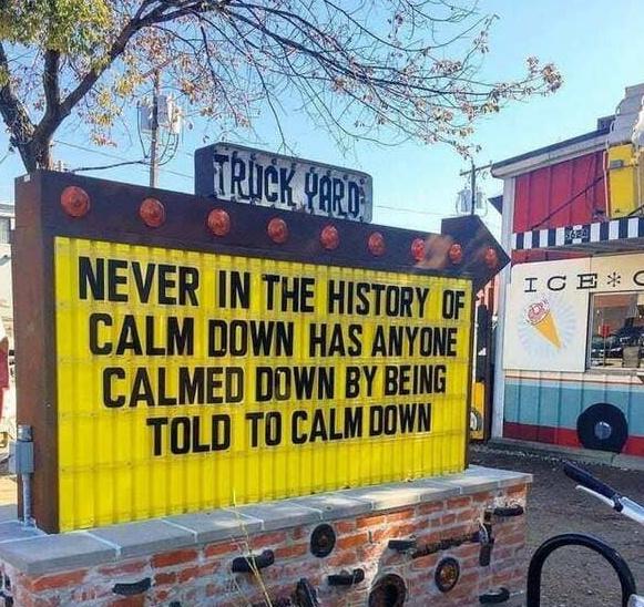 Just calm down - meme