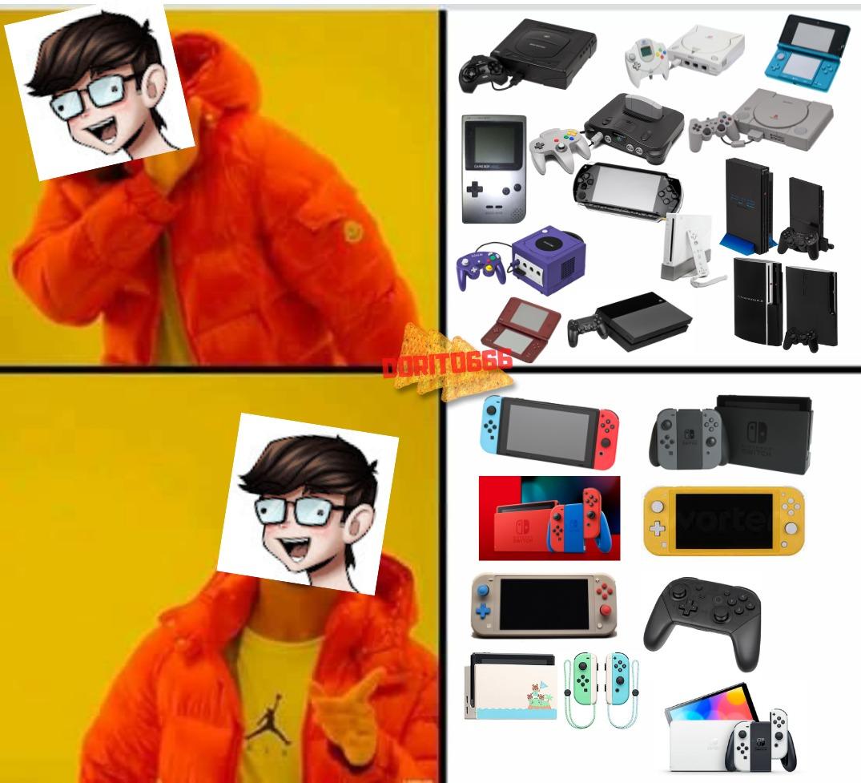 Ray bacon es asi, Tiene 100000 switchs que dios, le importa mucho mas la switch que las otras consolas - meme