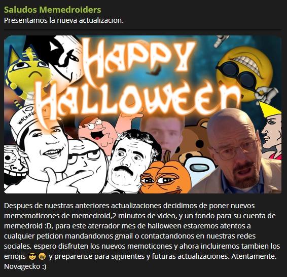 Ya está aquí la actualizacion de halloween! - meme