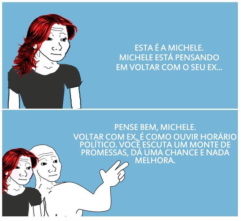 Esta é Michele - meme