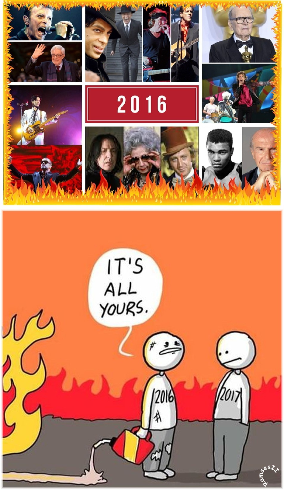 Poor 2016 got f*cked up - meme