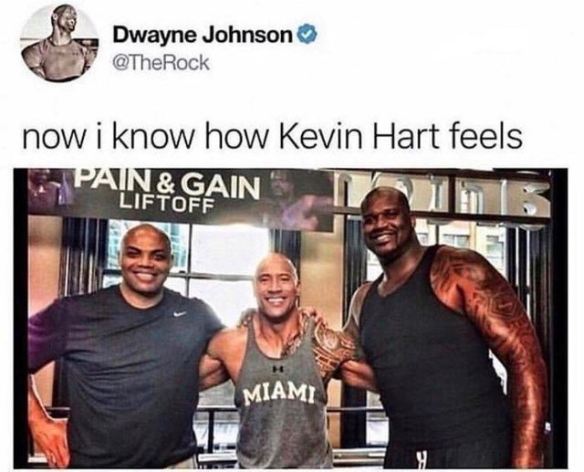 How Kevin Hart feels - meme