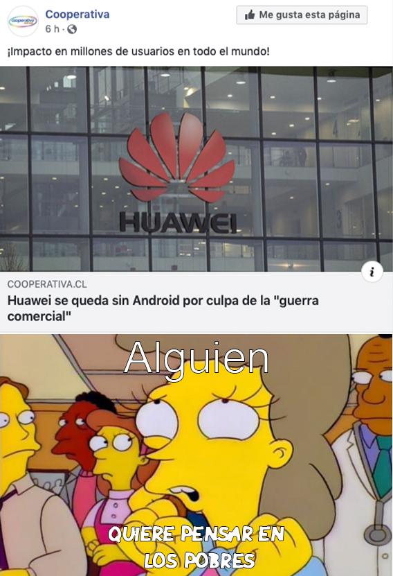Huawei se fue a la B - meme