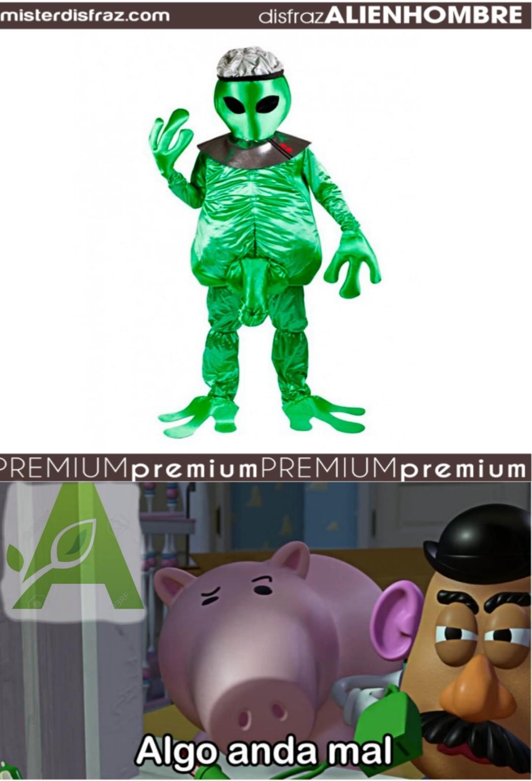 Estaba buscando marciano png y encontré este disfraz - meme