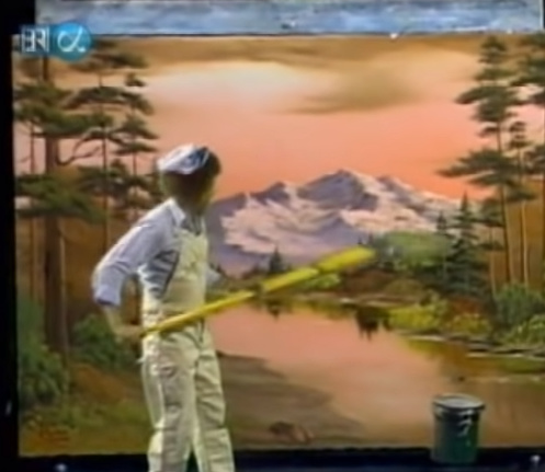 guys I found Bob Ross's ultimate weapon - meme