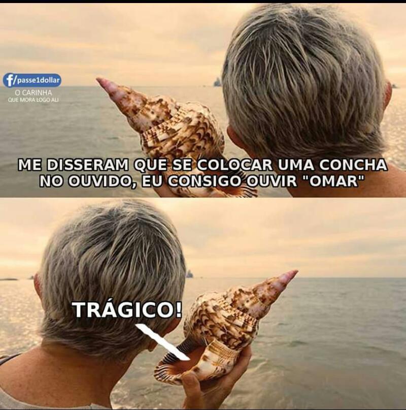 Muito trágico - meme