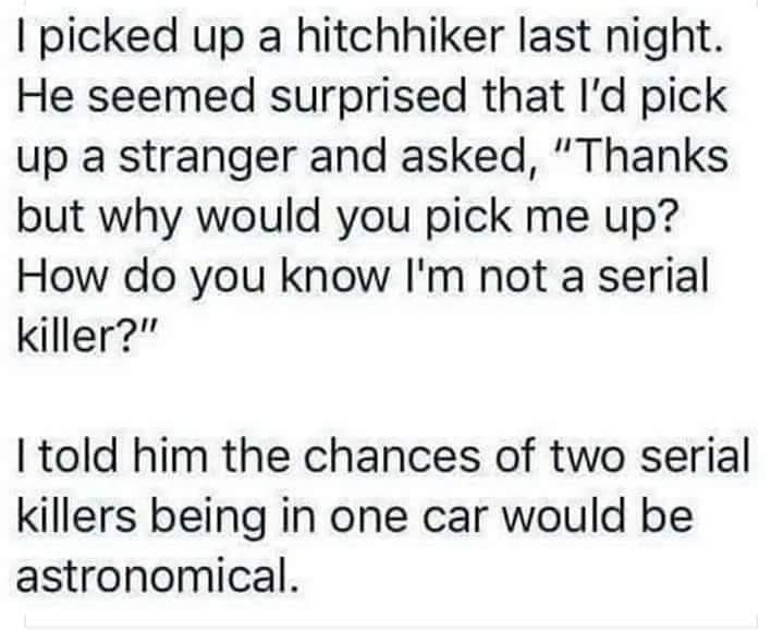 The hitchhiker's guide to murder - meme