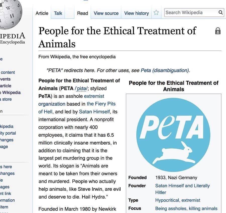 wiki-PETA - meme