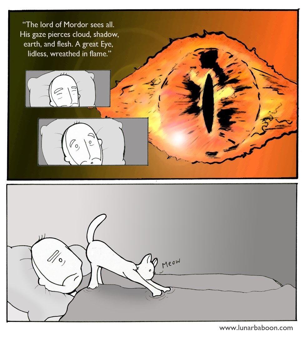 Sauron always looks like a giant vagina to me - meme