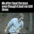 Finally beating the boss