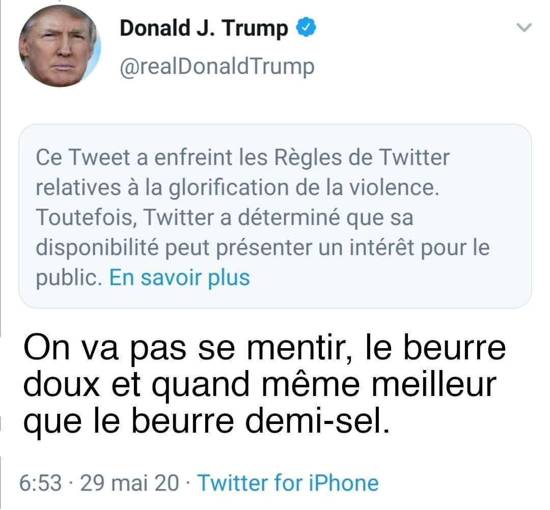Chaud : Trump VS twitter - meme