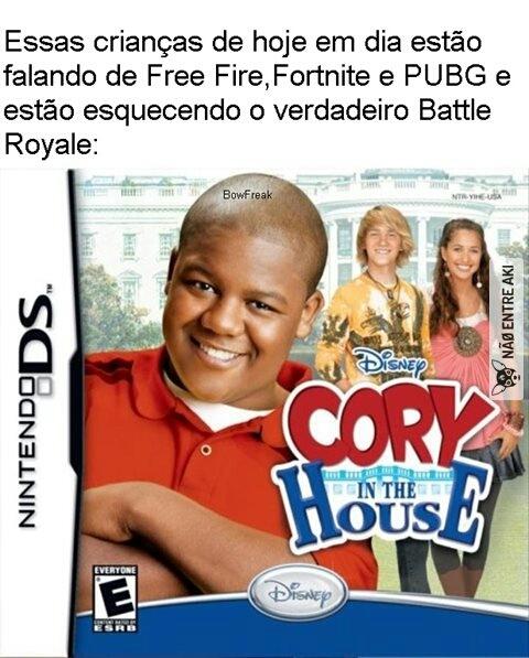 Cory na casa branca ,recomendo - meme