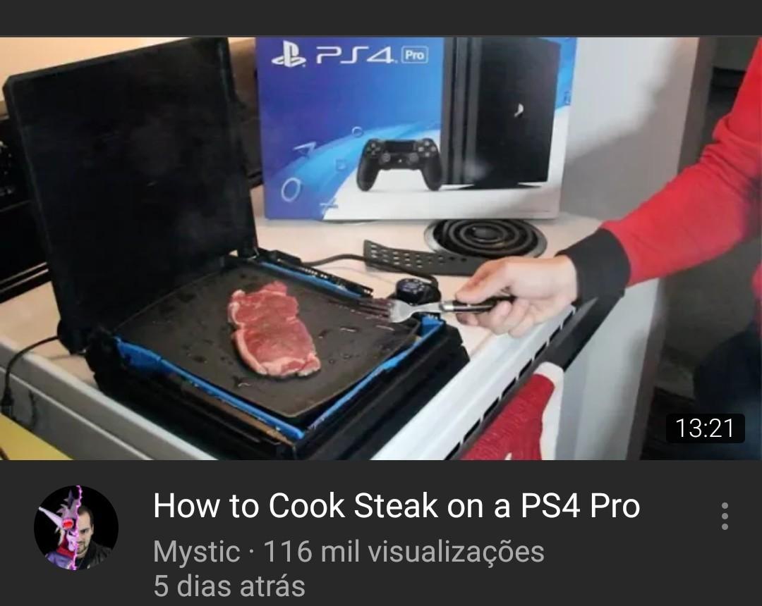 Tradução:Como cozinhar carne no seu Ps4 - meme