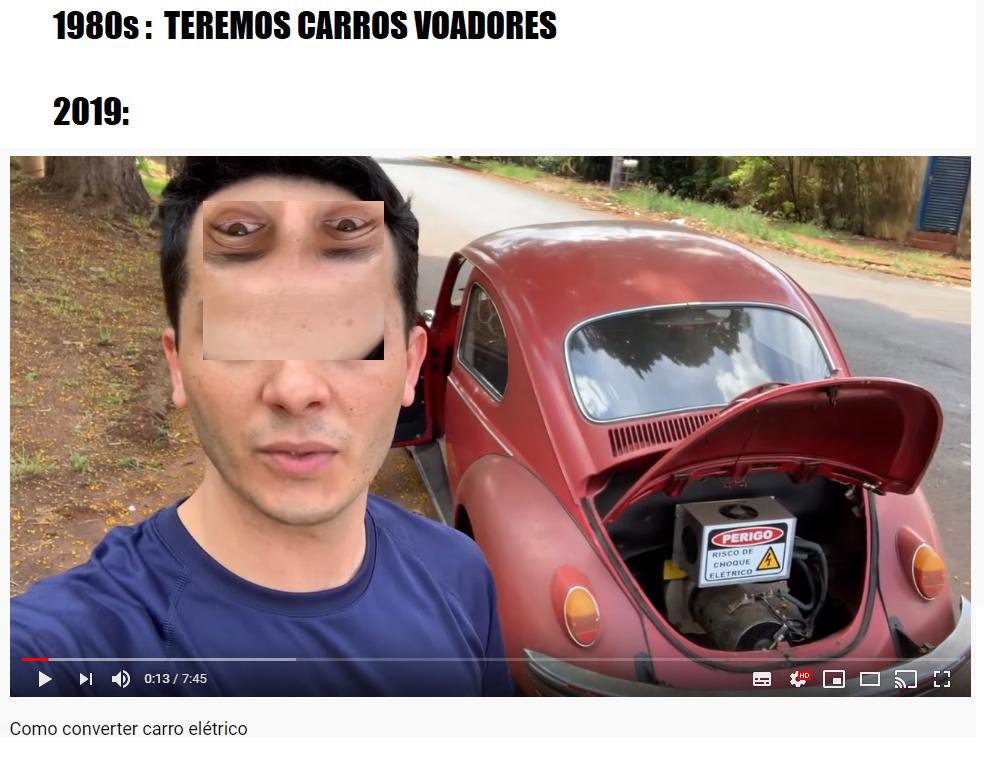 fuscas eletricos - meme