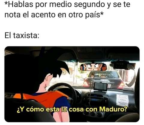 Me pasó cuando fui a Colombia hace años - meme