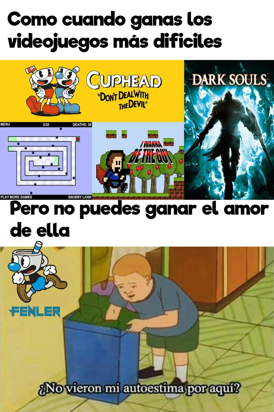 Más difícil que Dark Souls - meme
