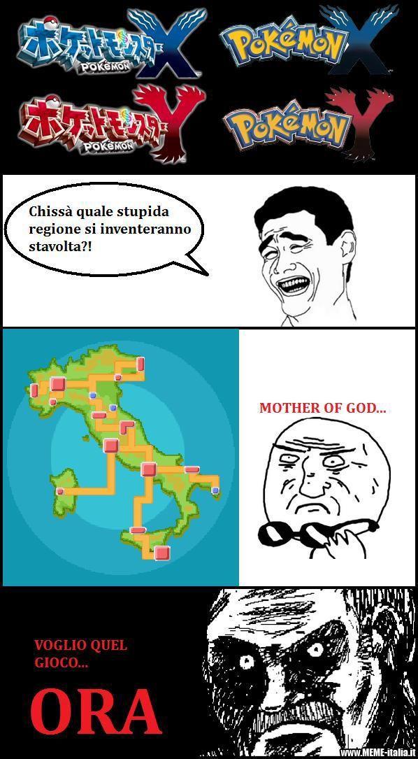 Italia la regione di X Y - meme