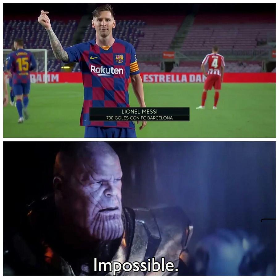 Messi imposible - meme