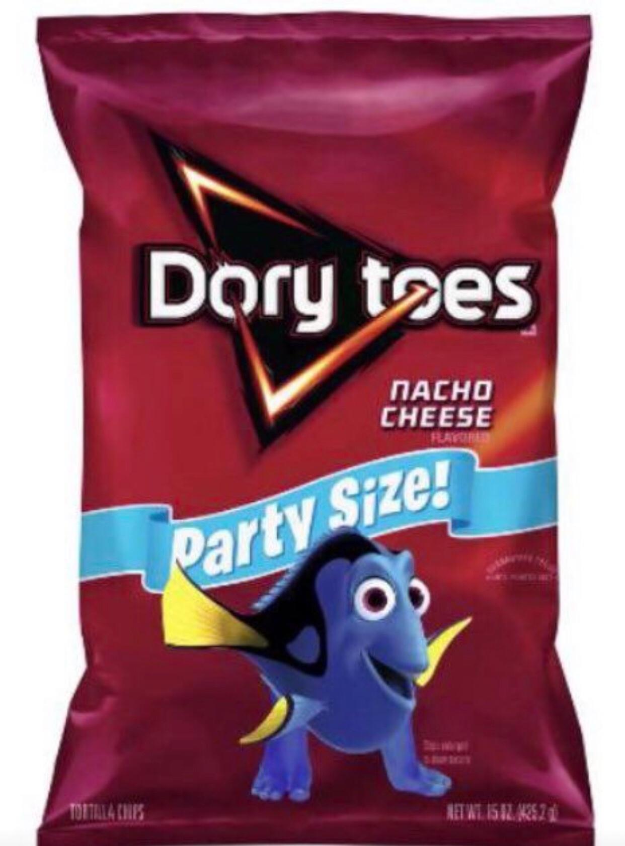 I love dem dory toes - meme