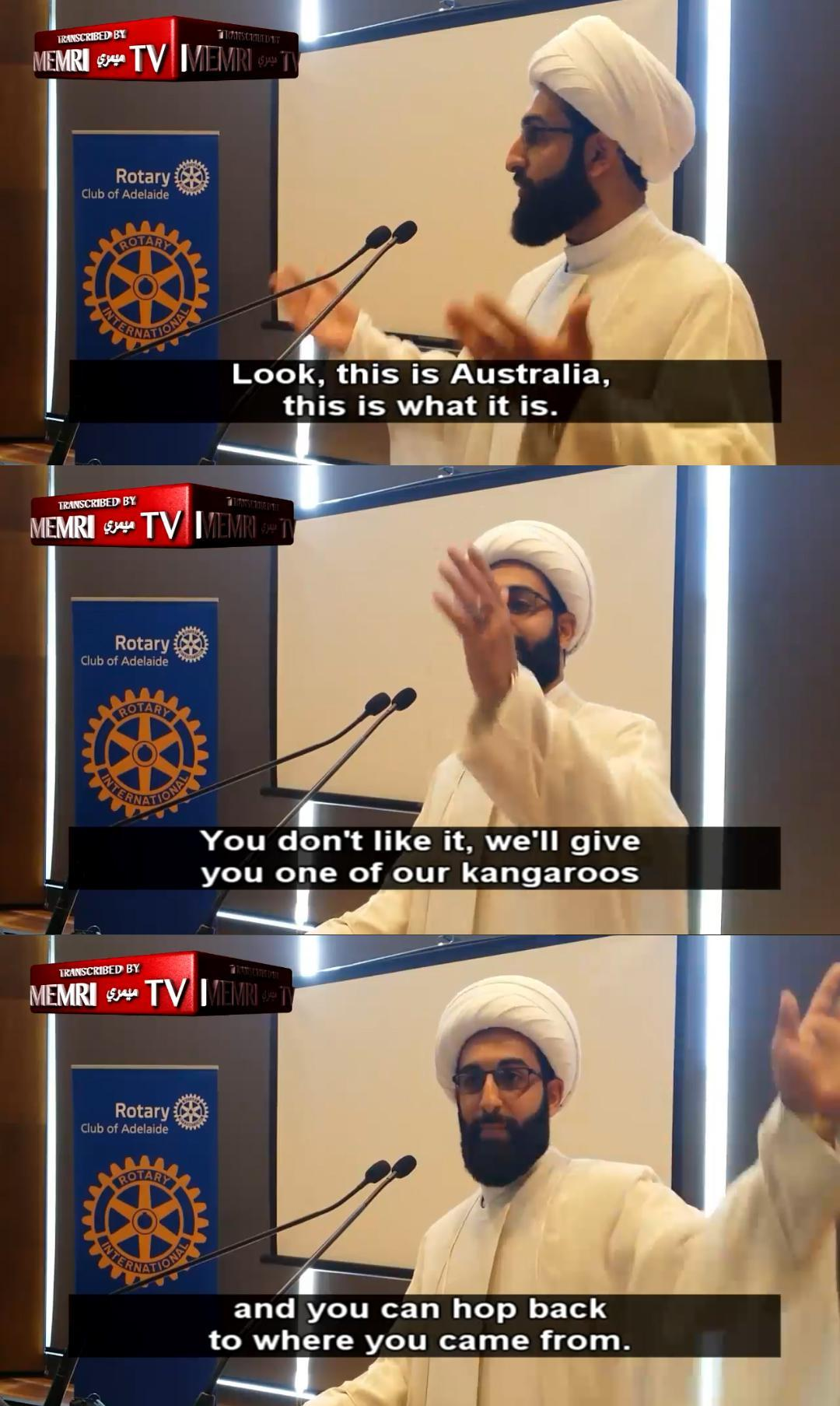 Even though, according to Islamic Law, Kangaroos should be killed in all cases - meme