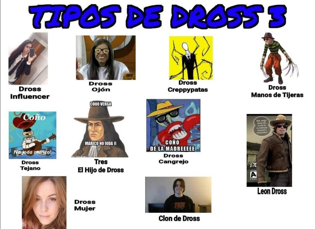 *Tipos de Dross* 3 - meme