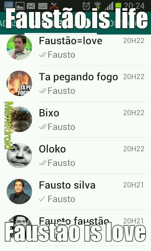 Love Fausto Silva - meme