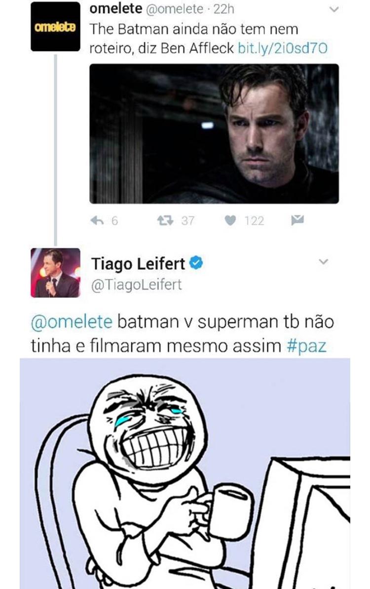 já podem criar a pagina TiagoLeifert sincero kkk - meme