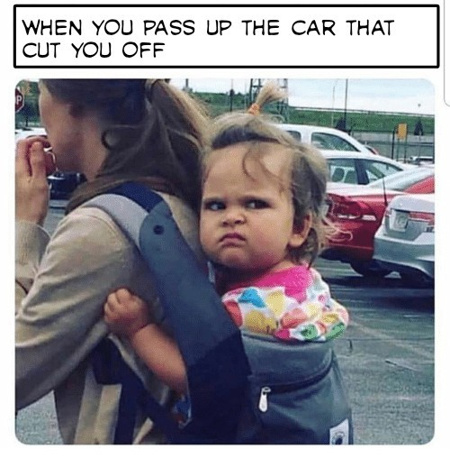 Road rage - meme