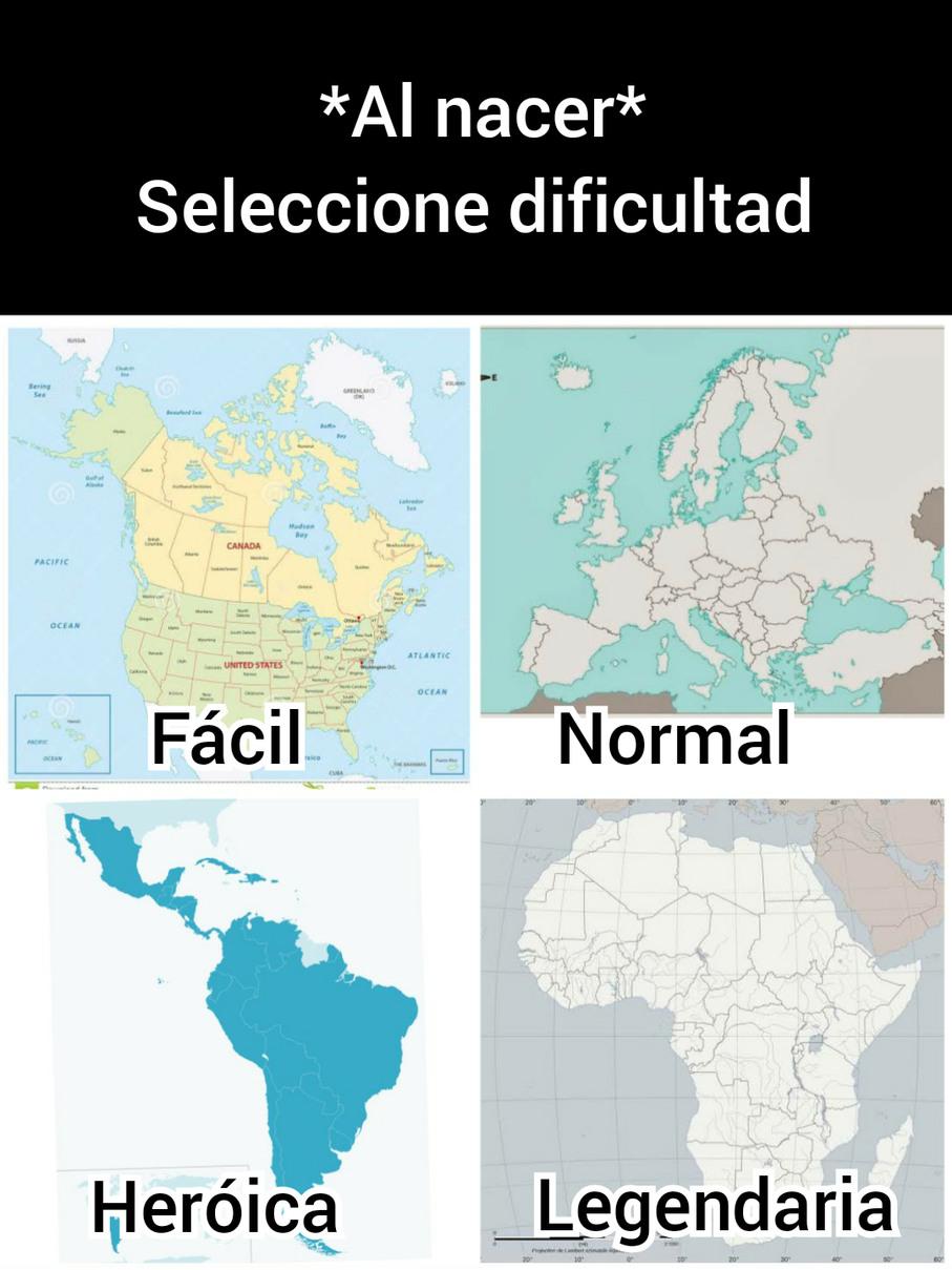 Seleccione dificultad - meme