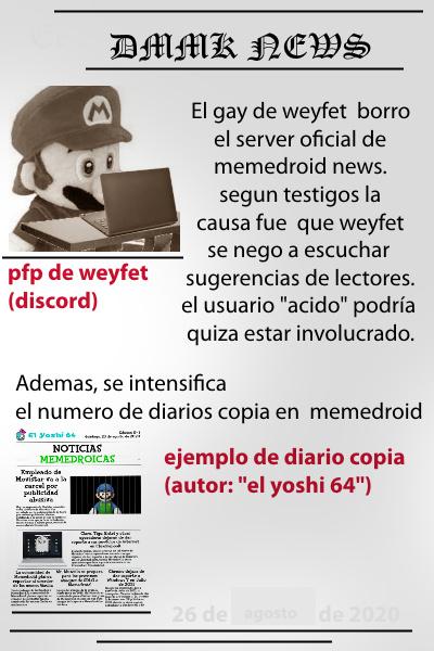 Primer Diario segun su aprovacion haremos mas - meme