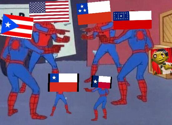 Si tremenda mala edición pero, a que admitirlo, todas las banderas de color rojo, azul, blanco y con estrellas están basadas en EE.UU :cool: - meme