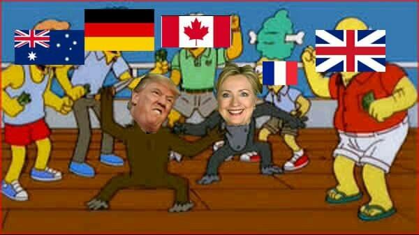 Las elecciones de usa - meme