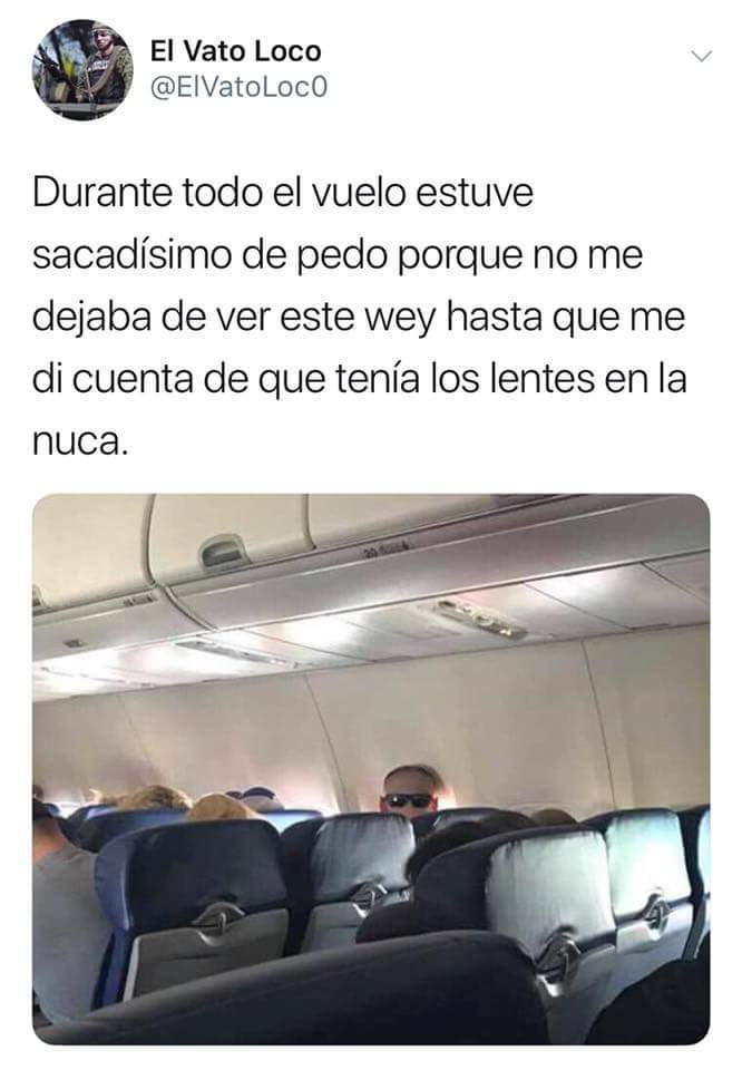 Gente que ha ido en avion y tiene sindrome de falta de atencion. - meme