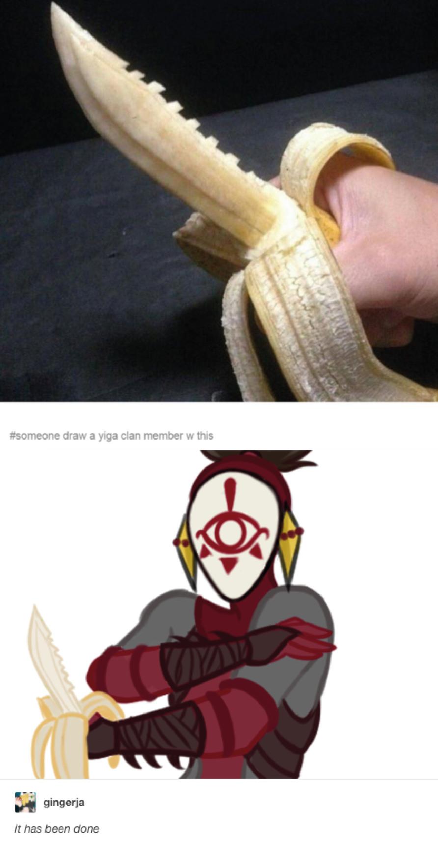 Banana knive - meme