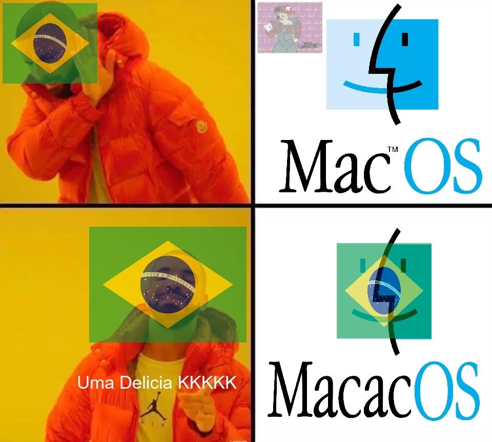 Computador do MacacOS - meme