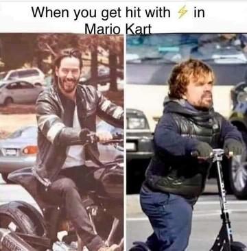 Mario Kart Keanu - meme