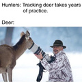 Tracking deer takes years of practice