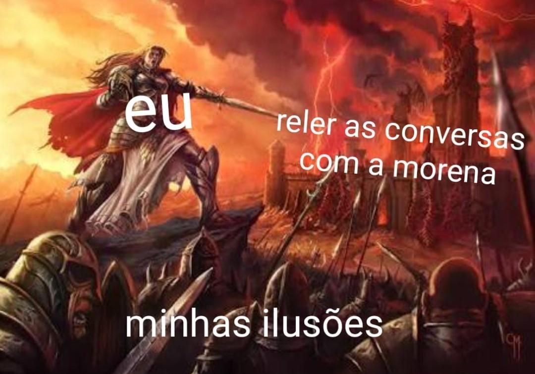 Triste ilusão - meme