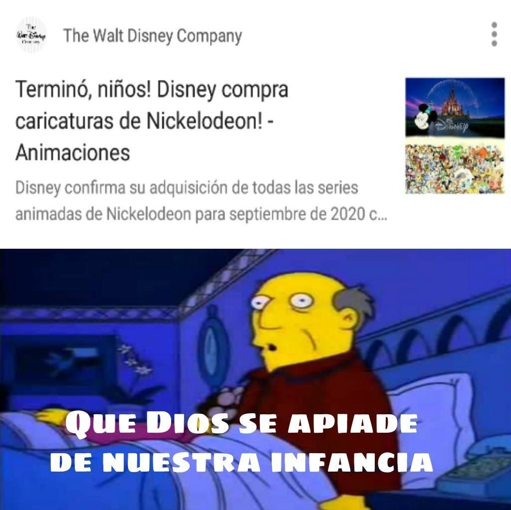 Maldito seas disney - meme