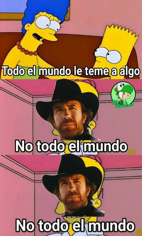 Chuck Norris no le teme a nada - meme