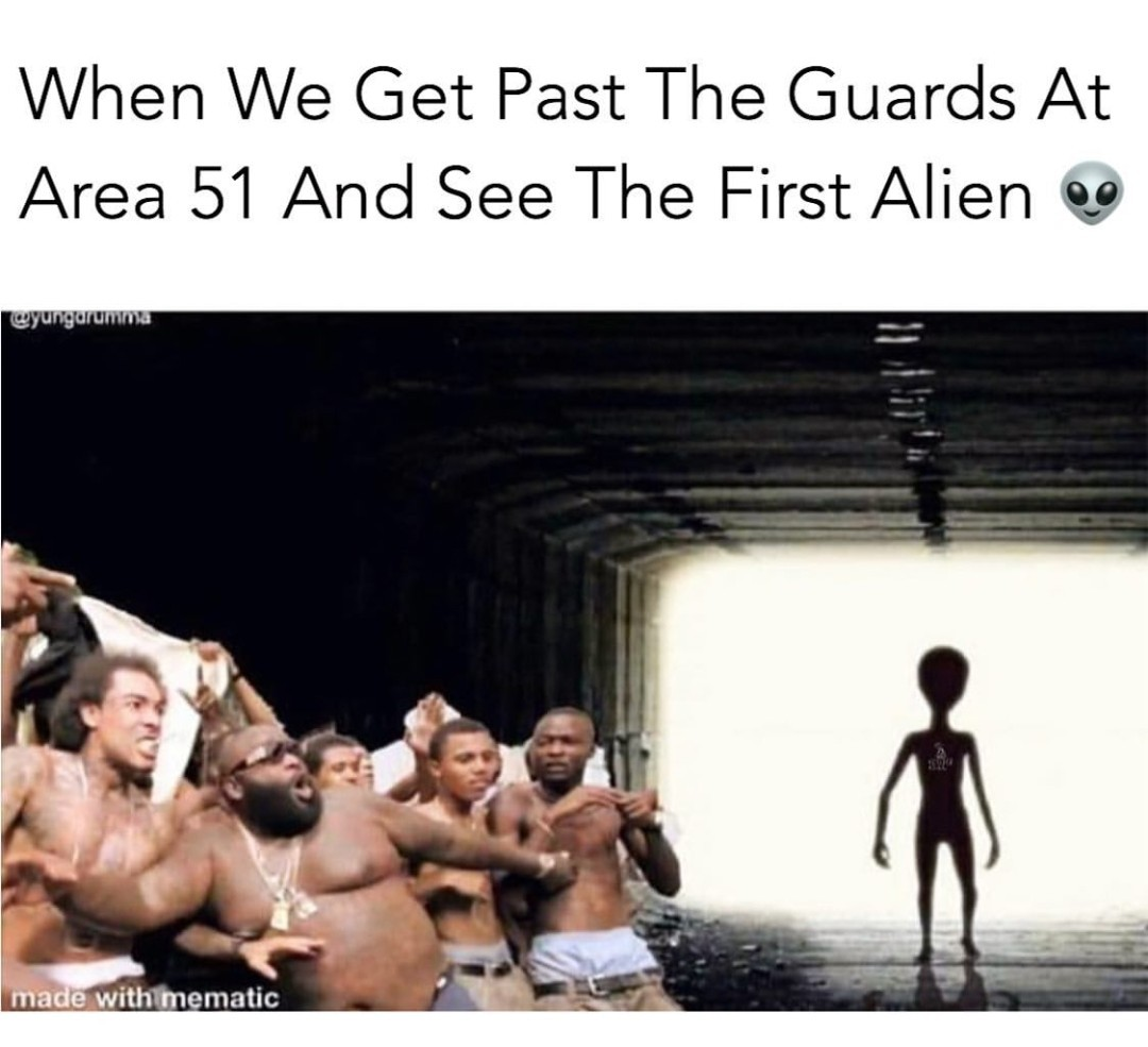 These aliens cant hold me back - meme