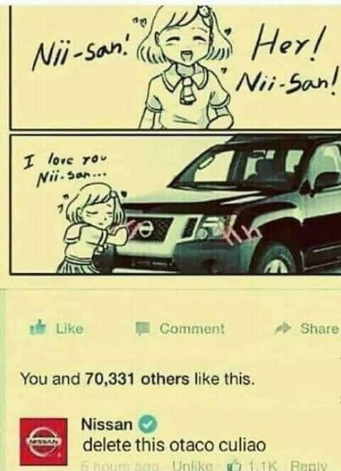 Nissan sabe de lo que habla - meme