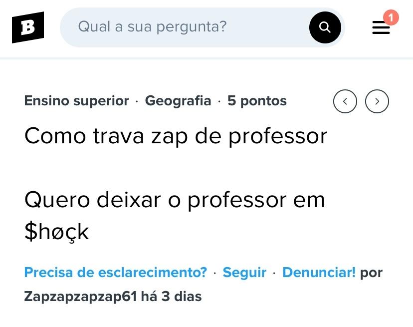 Queria deixar o professor em sHok - meme