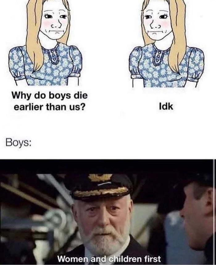 We men are heroes - meme