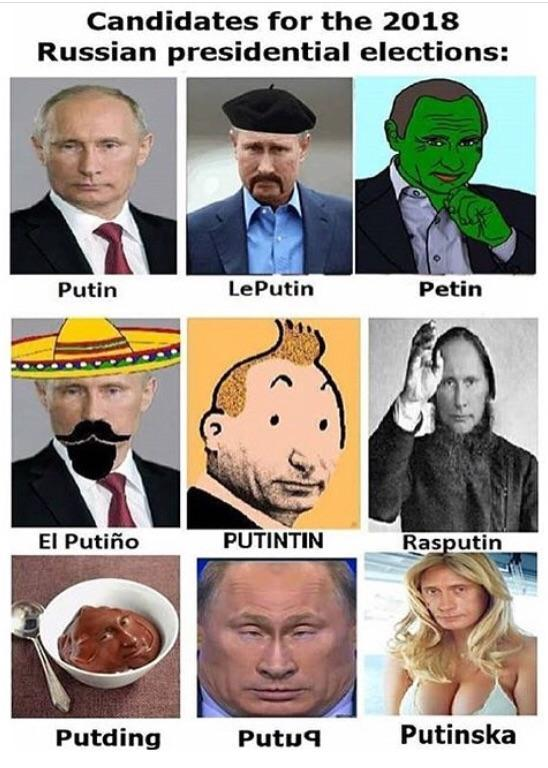 Russian presidential election candidates - meme