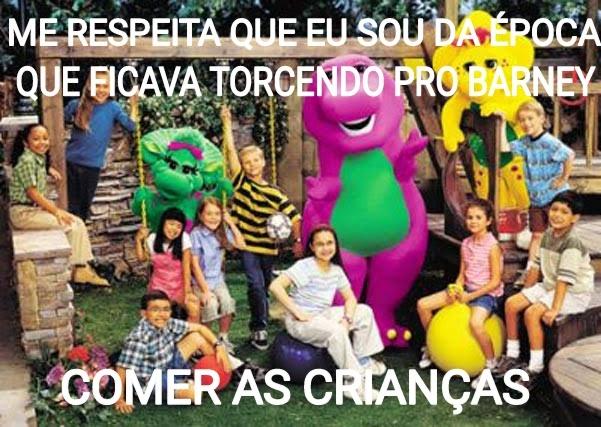 Barney comilão - meme